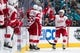 Mar 25, 2019; San Jose, CA, USA; Detroit Red Wings center Andreas Athanasiou (72) celebrates after scoring a goal against the San Jose Sharks in the second period at SAP Center at San Jose. Mandatory Credit: John Hefti-USA TODAY Sports