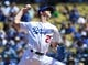 Mar 31, 2019; Los Angeles, CA, USA; Los Angeles Dodgers starting pitcher Walker Buehler (21) pitches in the second inning against the Arizona Diamondbacks at Dodger Stadium. Mandatory Credit: Jayne Kamin-Oncea-USA TODAY Sports