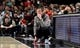 Apr 10, 2019; Portland, OR, USA; Portland Trail Blazers head coach Terry Stotts watches the game from the sidelines during the first half of the game against the Sacramento Kings at the Moda Center. Mandatory Credit: Steve Dykes-USA TODAY Sports