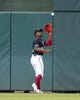 Apr 12, 2019; Washington, DC, USA; Washington Nationals center fielder Victor Robles (16) catches a fly ball during the first inning against the Pittsburgh Pirates at Nationals Park. Mandatory Credit: Gregory J. Fisher-USA TODAY Sports