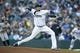 Apr 13, 2019; Seattle, WA, USA; Seattle Mariners starting pitcher Felix Hernandez (34) throws against the Houston Astros during the first inning at T-Mobile Park. Mandatory Credit: Joe Nicholson-USA TODAY Sports