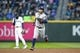 Apr 13, 2019; Seattle, WA, USA; Houston Astros second baseman Jose Altuve (27) runs the bases after hitting a solo-home run against the Seattle Mariners during the fifth inning at T-Mobile Park. Mandatory Credit: Joe Nicholson-USA TODAY Sports