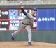 Apr 16, 2019; Minneapolis, MN, USA;  Toronto Blue Jays pitcher Aaron Sanchez (41) delivers a pitch during the first inning against the Minnesota Twins at Target Field. Mandatory Credit: Marilyn Indahl-USA TODAY Sports