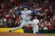 Apr 19, 2019; St. Louis, MO, USA; New York Mets relief pitcher Seth Lugo (67) pitches during the sixth inning against the St. Louis Cardinals at Busch Stadium. Mandatory Credit: Jeff Curry-USA TODAY Sports