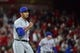 Apr 19, 2019; St. Louis, MO, USA; New York Mets relief pitcher Edwin Diaz (39) celebrates after closing out the ninth inning against the St. Louis Cardinals at Busch Stadium. Mandatory Credit: Jeff Curry-USA TODAY Sports