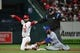 Apr 19, 2019; St. Louis, MO, USA; St. Louis Cardinals third baseman Matt Carpenter (13) celebrates after hitting a double during the fifth inning against the New York Mets at Busch Stadium. Mandatory Credit: Jeff Curry-USA TODAY Sports