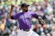 Apr 24, 2019; Denver, CO, USA; Colorado Rockies starting pitcher German Marquez (48) pitches in the first inning against the Washington Nationals at Coors Field. Mandatory Credit: Isaiah J. Downing-USA TODAY Sports