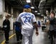 Apr 26, 2019; Toronto, Ontario, CAN; Toronto Blue Jays Vladimir Guerrero Jr. leaves the locker room prior to a press conference before playing the Oakland Athletics at Rogers Centre. Mandatory Credit: Kevin Sousa-USA TODAY Sports