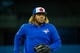Apr 26, 2019; Toronto, Ontario, CAN; Toronto Blue Jays player Vladimir Guerrero Jr. looks on during batting practice before playing against the Oakland Athletics at Rogers Centre. Mandatory Credit: Kevin Sousa-USA TODAY Sports