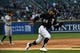 Apr 26, 2019; Chicago, IL, USA; Chicago White Sox center fielder Leury Garcia (28) rounds third base to score a run against the Detroit Tigers during the first inning at Guaranteed Rate Field. Mandatory Credit: Mike DiNovo-USA TODAY Sports