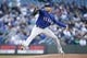 Apr 27, 2019; Seattle, WA, USA; Texas Rangers starting pitcher Mike Minor (23) throws out a pitch against the Seattle Mariners during the first inning at T-Mobile Park. Mandatory Credit: Jennifer Buchanan-USA TODAY Sports