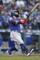 Apr 27, 2019; Seattle, WA, USA; Texas Rangers second baseman Rougned Odor (12) follows through on a three-run home run against the Seattle Mariners during the second inning at T-Mobile Park. Mandatory Credit: Jennifer Buchanan-USA TODAY Sports