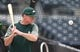 May 4, 2019; Pittsburgh, PA, USA;  Oakland Athletics manager Bob Melvin (6) hits fungos to infielders before playing the Pittsburgh Pirates at PNC Park. Mandatory Credit: Charles LeClaire-USA TODAY Sports