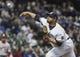May 6, 2019; Milwaukee, WI, USA; Milwaukee Brewers pitcher Jhoulys Chacin (45) throws a pitch in the first inning against the Washington Nationals at Miller Park. Mandatory Credit: Benny Sieu-USA TODAY Sports