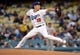 May 10, 2019; Los Angeles, CA, USA; Los Angeles Dodgers starting pitcher Kenta Maeda (18) throws against the Washington Nationals during the first inning at Dodger Stadium. Mandatory Credit: Gary A. Vasquez-USA TODAY Sports