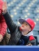 May 11, 2019; Kansas City, MO, USA; A Philadelphia Phillies fan calls out to players before the game against the Kansas City Royals at Kauffman Stadium. Mandatory Credit: Jay Biggerstaff-USA TODAY Sports