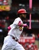 May 12, 2019; St. Louis, MO, USA; St. Louis Cardinals right fielder Jose Martinez (38) tosses his bat after hitting a two run home run off of Pittsburgh Pirates starting pitcher Steven Brault (not pictured) during the second inning at Busch Stadium. Mandatory Credit: Jeff Curry-USA TODAY Sports