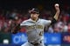 May 12, 2019; St. Louis, MO, USA; Pittsburgh Pirates starting pitcher Steven Brault (43) pitches during the first inning against the St. Louis Cardinals at Busch Stadium. Mandatory Credit: Jeff Curry-USA TODAY Sports