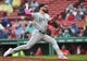 May 12, 2019; Boston, MA, USA; Seattle Mariners relief pitcher Mike Wright (41) pitches during the seventh inning against the Boston Red Sox at Fenway Park. Mandatory Credit: Bob DeChiara-USA TODAY Sports