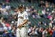 May 19, 2019; Seattle, WA, USA; Seattle Mariners starting pitcher Yusei Kikuchi (18) walks off the field after pitching in the first inning against the Minnesota Twins at T-Mobile Park. Mandatory Credit: Lindsey Wasson-USA TODAY Sports