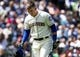 May 19, 2019; Seattle, WA, USA;  Seattle Mariners third baseman Ryon Healy (27) reacts after striking out swinging to end the fourth inning against the Minnesota Twins at T-Mobile Park. Mandatory Credit: Lindsey Wasson-USA TODAY Sports