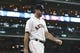 May 21, 2019; Houston, TX, USA; Houston Astros starting pitcher Justin Verlander (35) walks out of the dugout before a game against the Chicago White Sox at Minute Maid Park. Mandatory Credit: Troy Taormina-USA TODAY Sports