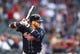 May 9, 2019; Phoenix, AZ, USA; Atlanta Braves third baseman Josh Donaldson against the Arizona Diamondbacks at Chase Field. Mandatory Credit: Mark J. Rebilas-USA TODAY Sports