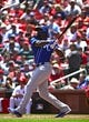 May 22, 2019; St. Louis, MO, USA; Kansas City Royals right fielder Jorge Soler (12) hits a three run home run off of St. Louis Cardinals starting pitcher Michael Wacha (not pictured) during the third inning at Busch Stadium. Mandatory Credit: Jeff Curry-USA TODAY Sports