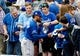May 27, 2019; Chicago, IL, USA; Kansas City Royals center fielder Billy Hamilton (6) signs autographs before the game against the Chicago White Sox at Guaranteed Rate Field. Mandatory Credit: David Banks-USA TODAY Sports