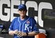 May 27, 2019; Chicago, IL, USA; Kansas City Royals manager Ned Yost (3) in the dugout before the game against the Chicago White Sox at Guaranteed Rate Field. Mandatory Credit: David Banks-USA TODAY Sports
