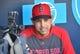 Jun 5, 2019; Kansas City, MO, USA; Boston Red Sox manager Alex Cora (20) speaks with media before a game against the Kansas City Royals at Kauffman Stadium. Mandatory Credit: Denny Medley-USA TODAY Sports