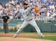 Jun 7, 2019; Kansas City, MO, USA; Chicago White Sox starting pitcher Ivan Nova (46) delivers a pitch in the first inning against the Kansas City Royals at Kauffman Stadium. Mandatory Credit: Denny Medley-USA TODAY Sports
