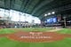 Jun 8, 2019; Houston, TX, USA; An interior photo of Minute Maid Park with the field painted for All-Star voting prior to the game between the Houston Astros and the Baltimore Orioles. Mandatory Credit: Erik Williams-USA TODAY Sports