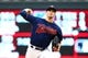 Jun 15, 2019; Minneapolis, MN, USA; Minnesota Twins starting pitcher Jake Odorizzi (12) throws a pitch in the first inning against the Kansas City Royals at Target Field. Mandatory Credit: David Berding-USA TODAY Sports