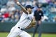 Jun 17, 2019; Seattle, WA, USA; Seattle Mariners starting pitcher Tayler Scott (61) throws the ball against the Kansas City Royals during the first inning at T-Mobile Park. Mandatory Credit: Joe Nicholson-USA TODAY Sports