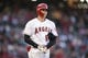 Jun 26, 2019; Anaheim, CA, USA; Los Angeles Angels designated hitter Shohei Ohtani (17) heads to first after being walked during the sixth inning against the Cincinnati Reds at Angel Stadium of Anaheim. Mandatory Credit: Kelvin Kuo-USA TODAY Sports