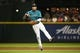 Jul 5, 2019; Seattle, WA, USA; Seattle Mariners shortstop J.P. Crawford (3) throws to first for an out against the Oakland Athletics during the sixth inning at T-Mobile Park. Mandatory Credit: Joe Nicholson-USA TODAY Sports
