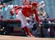 July 14, 2019; Anaheim, CA, USA; Los Angeles Angels starting pitcher Jose Suarez (54) throws against the Seattle Mariners during the first inning at Angel Stadium of Anaheim. Mandatory Credit: Gary A. Vasquez-USA TODAY Sports