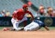 July 14, 2019; Anaheim, CA, USA; Seattle Mariners second baseman Dylan Moore (25) steals second against Los Angeles Angels shortstop David Fletcher (6) during the second inning at Angel Stadium of Anaheim. Mandatory Credit: Gary A. Vasquez-USA TODAY Sports