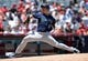 July 14, 2019; Anaheim, CA, USA; Seattle Mariners starting pitcher Yusei Kikuchi (18) throws against the Los Angeles Angels during the second inning at Angel Stadium of Anaheim. Mandatory Credit: Gary A. Vasquez-USA TODAY Sports
