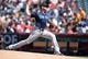 July 14, 2019; Anaheim, CA, USA; Seattle Mariners relief pitcher Matt Carasiti (56) throws against the Los Angeles Angels during the fifth inning at Angel Stadium of Anaheim. Mandatory Credit: Gary A. Vasquez-USA TODAY Sports