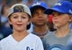 Jul 15, 2019; Kansas City, MO, USA; Kansas City Royals fans hope for a warm up ball before at the start of a game against the Chicago White Sox at Kauffman Stadium. Mandatory Credit: Denny Medley-USA TODAY Sports