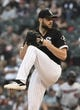 Jul 25, 2019; Chicago, IL, USA; Chicago White Sox starting pitcher Lucas Giolito (27) throws the ball against the Minnesota Twins during the first inning at Guaranteed Rate Field. Mandatory Credit: David Banks-USA TODAY Sports