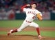 July 30, 2019; Anaheim, CA, USA; Los Angeles Angels starting pitcher Griffin Canning (47) throws against the Detroit Tigers during the third inning at Angel Stadium of Anaheim. Mandatory Credit: Gary A. Vasquez-USA TODAY Sports