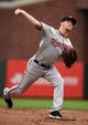 Aug 5, 2019; San Francisco, CA, USA; Washington Nationals pitcher Erick Fedde (23) delivers against the San Francisco Giants in the first inning at Oracle Park. Mandatory Credit: Cody Glenn-USA TODAY Sports