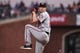 Aug 5, 2019; San Francisco, CA, USA; Washington Nationals pitcher Erick Fedde (23) delivers against the San Francisco Giants in the third inning at Oracle Park. Mandatory Credit: Cody Glenn-USA TODAY Sports