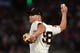 Aug 5, 2019; San Francisco, CA, USA; San Francisco Giants relief pitcher Trevor Gott (58) delivers against the Washington Nationals in the sixth inning at Oracle Park. Mandatory Credit: Cody Glenn-USA TODAY Sports