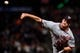 Aug 5, 2019; San Francisco, CA, USA; Washington Nationals pitcher Erick Fedde (23) delivers against the San Francisco Giants in the sixth inning at Oracle Park. Mandatory Credit: Cody Glenn-USA TODAY Sports