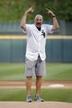 Jul 3, 2019; Chicago, IL, USA; Chicago Bears head coach Matt Nagy before throwing out a ceremonial first pitch before the game between the Chicago White Sox and the Detroit Tigers in game two of a baseball doubleheader at Guaranteed Rate Field. Mandatory Credit: Jon Durr-USA TODAY Sports