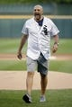 Jul 3, 2019; Chicago, IL, USA; Chicago Bears head coach Matt Nagy after throwing out a ceremonial first pitch before the game between the Chicago White Sox and the Detroit Tigers in game two of a baseball doubleheader at Guaranteed Rate Field. Mandatory Credit: Jon Durr-USA TODAY Sports